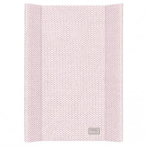 Baby Changing Mat with Knitted Print in Pink from Petite Amélie