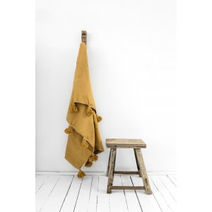 Berber Children's Blanket Handmade in Yellow from Petite Amélie