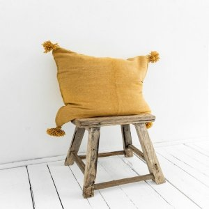Children's Berber Cushion Cover Cotton in Yellow from Petite Amélie