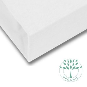 Organic Cotton Fitted Cot Mattress Sheet in Off-White