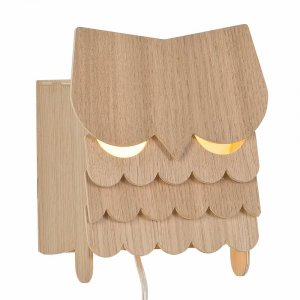 Wooden Children's Lamp Owl from Petite Amélie