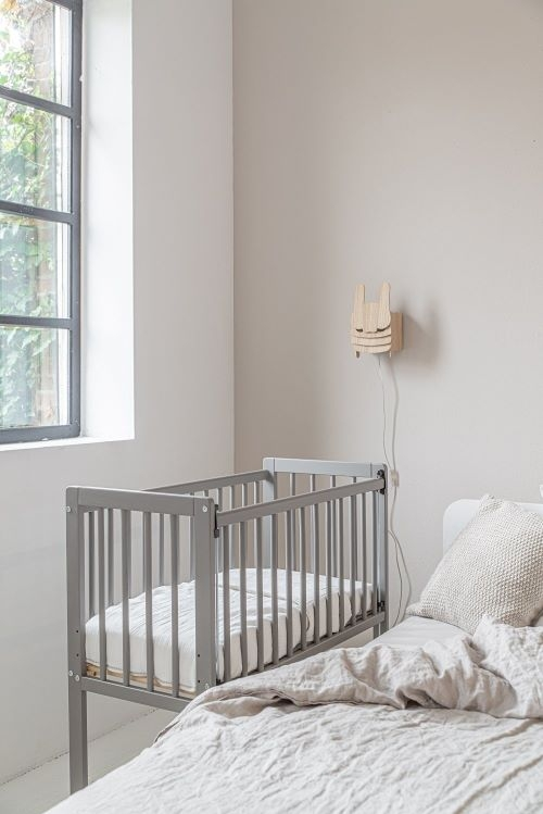 Bedside Sleeper Crib Alain in Grey