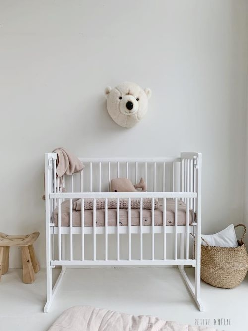 Bedside Sleeper Crib Lilly in White