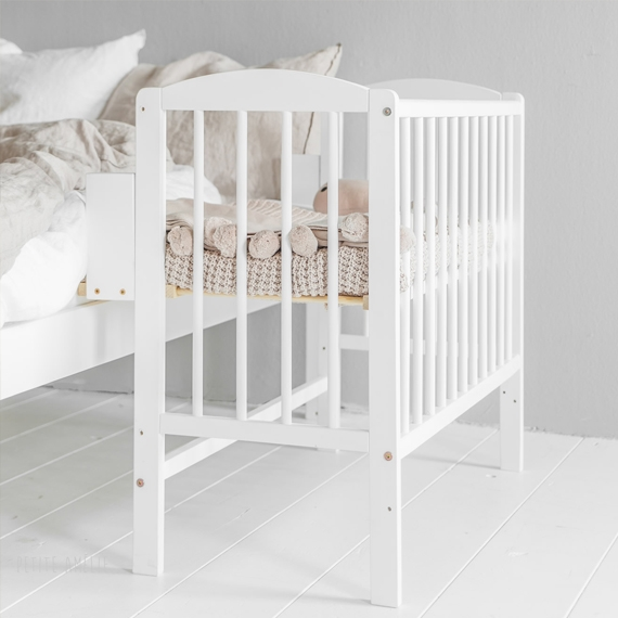 Bedside Sleeper Crib Nuage in White